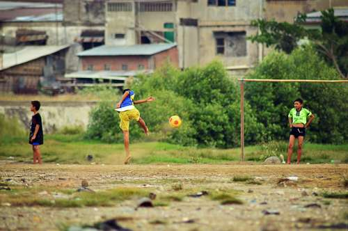 Sport Children Sports Football Fun Soccer Playing