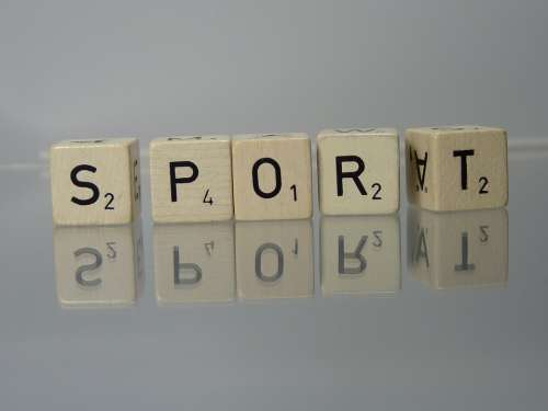 Sport Scrabble Text Mirror Dice Letters