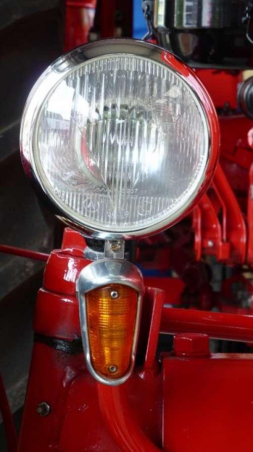 Spotlight Tractor Porsche Red Nose Oldtimer Light