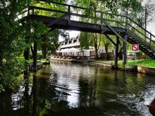 Spreewald Depth Water Boat Nature Bridges