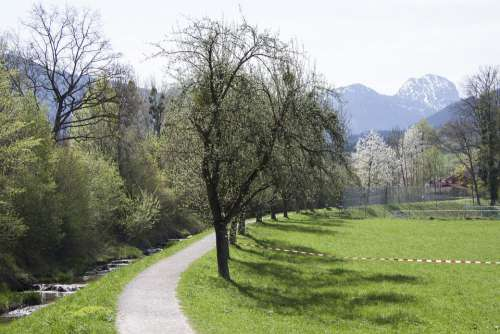 Spring Sunshine May Mountains Wendelstein Bach