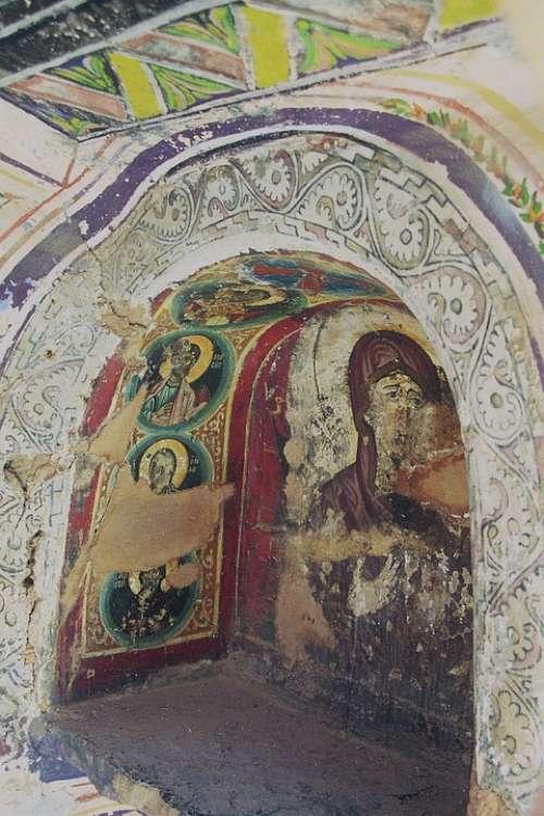 St Catherine'S Monastery Sinai Fresco Mural
