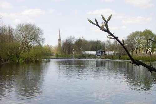 St Elphin River Mersey Warrington Parish Church