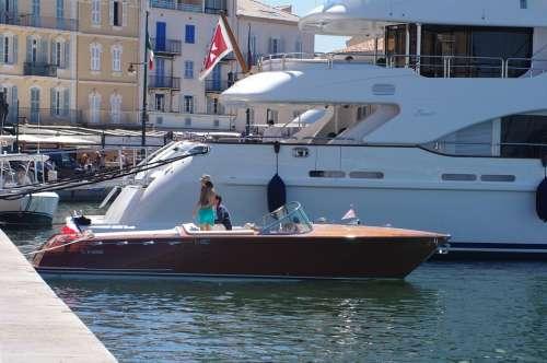 St Tropez Port Summer Boats