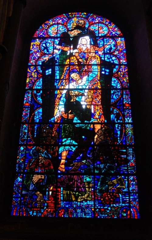 Stained Glass Window Cathedral Religious