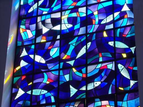 Stained Glass Stained Glass Windows Fish