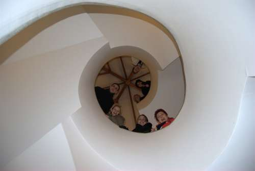 Stair Staircase Spiral Staircase People