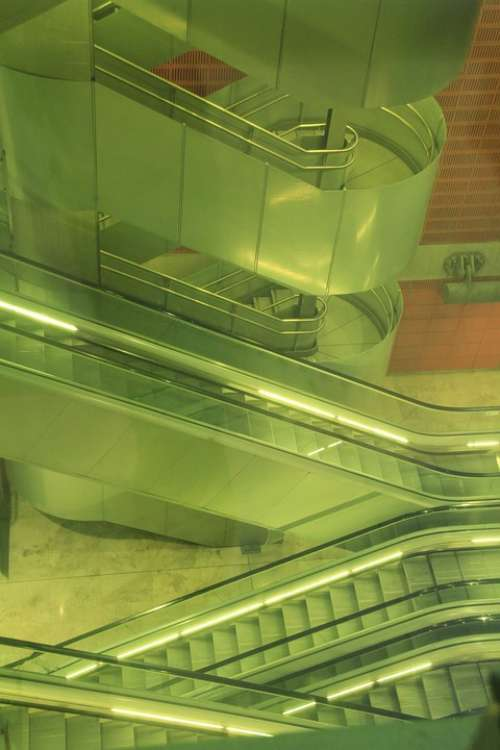 Stairs Escalator Architecture Terminal Interior
