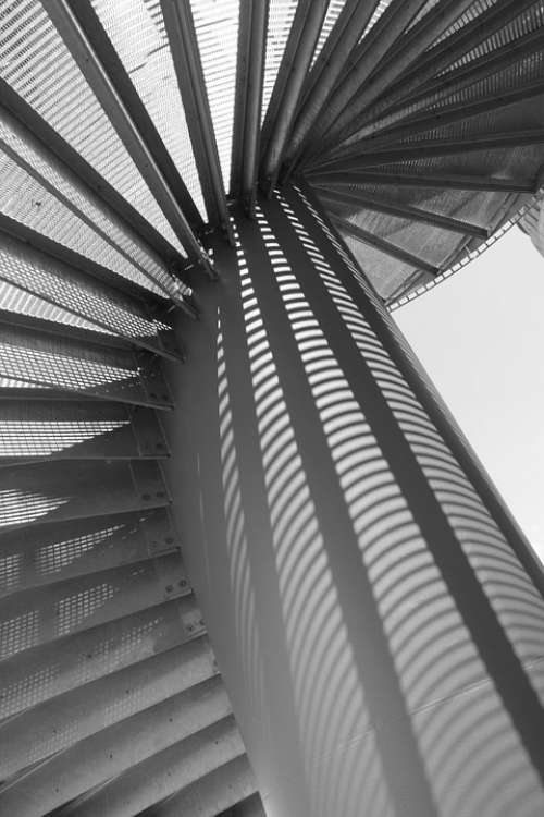Stairs Spiral Staircase Light Shadow Grid
