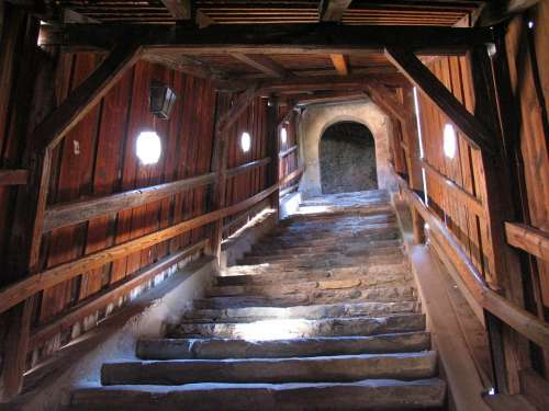 Stairs Staircase Emergence Castle Wachau Dürnstein