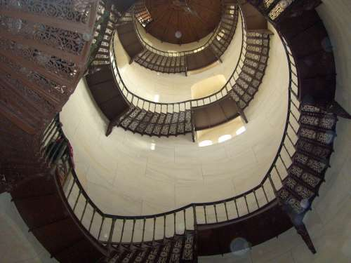 Stairs Tower Architecture Scaffold Spiral Staircase