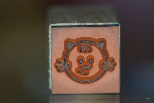 Stamp Cat Wood Stamp Child Children Tinker Face