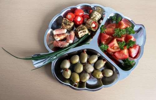 Starter Olives Eat Mediterranean Aperitif Chunks