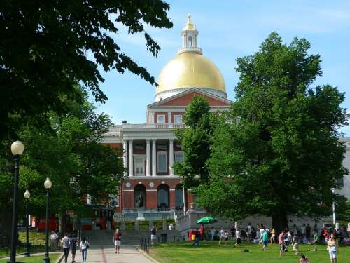 Statehouse Building City Boston Massachusetts Usa