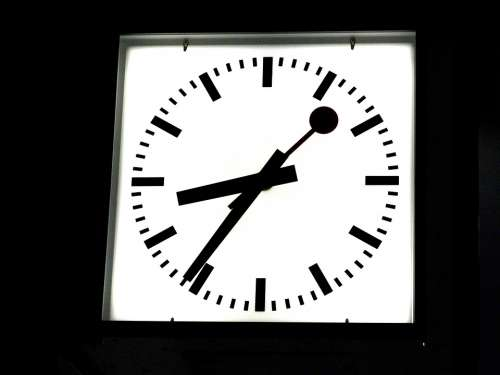 Station Clock Clock Time Dates Pointer Hours