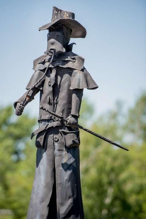 Statue Detail Blacksmith Iron Black Sun Shade