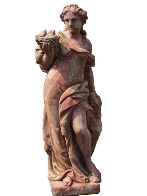 Statue Woman Garden Figurines Female Decorative