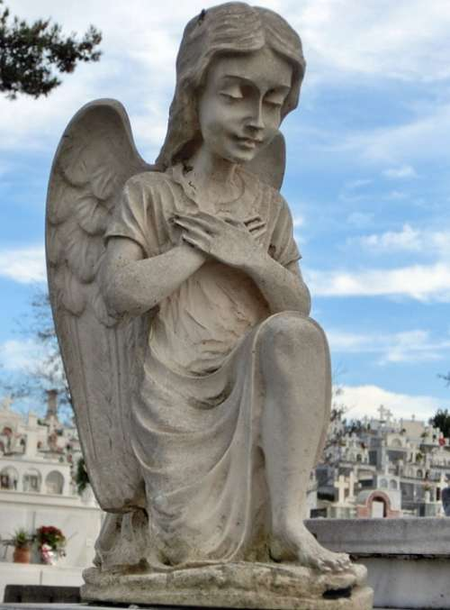 Statue Angel Cemetery Greece