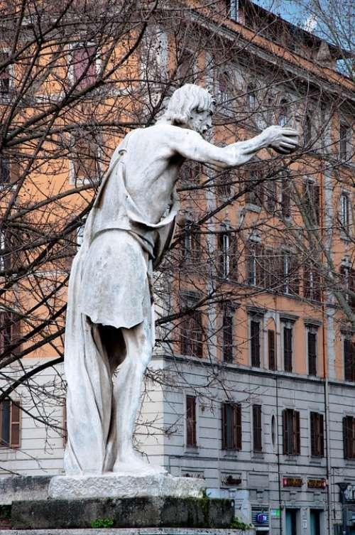 Statue Ancient Roma Capitale Sculpture Beggar