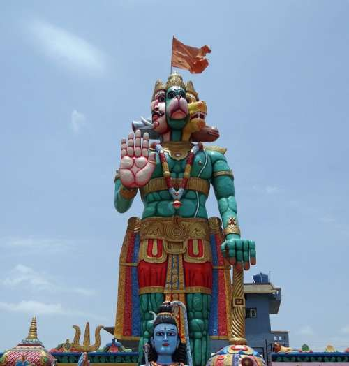 Statue Temple Hanuman Monkey-God