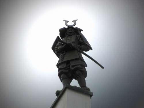 Statue Sculpture Warrior Brno Silhouette Cloudy