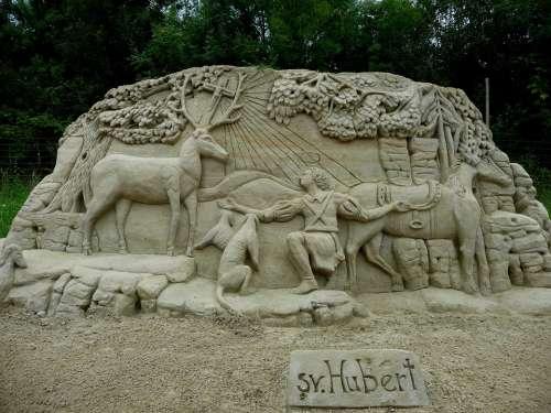 Statue Sand Sculptures Olšiak Sand Art Work Of Art