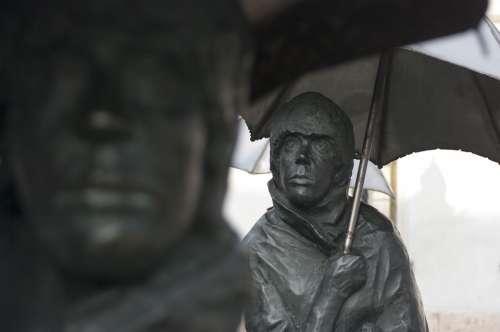 Statue Budapest Hungary Bronze Statue Hungarian