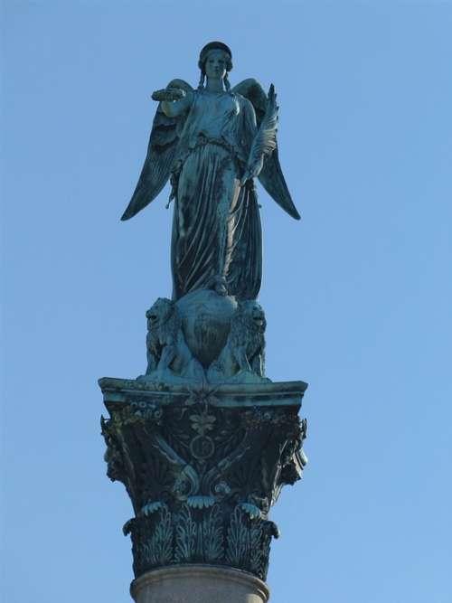 Statue Angel Wing Sculpture Art Architecture