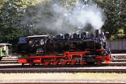 Steam Locomotive Rasender Roland Resin Railway