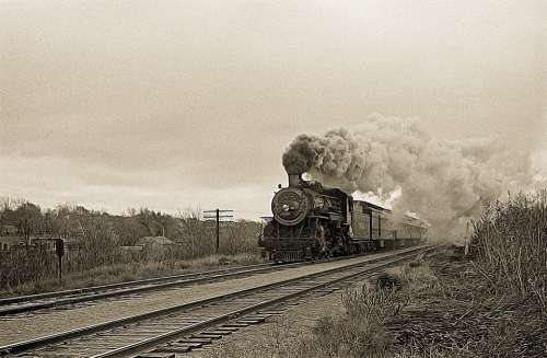 Steam Train Train Track Steam Locomotive Railroad