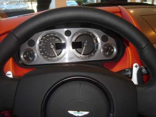 Steering Wheel Wheel Aston Aston Martin Car