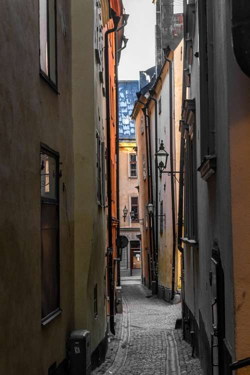 Stockholm The Old Town Sweden Alley