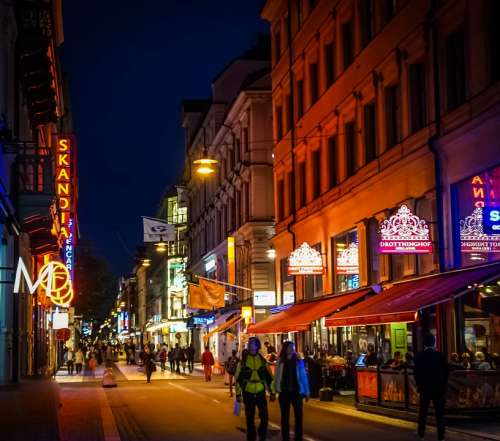 Stockholm Sweden Night Evening Scandinavia