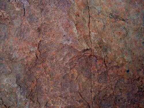Stone Flat Red-Brown Textured Cracks Ridges
