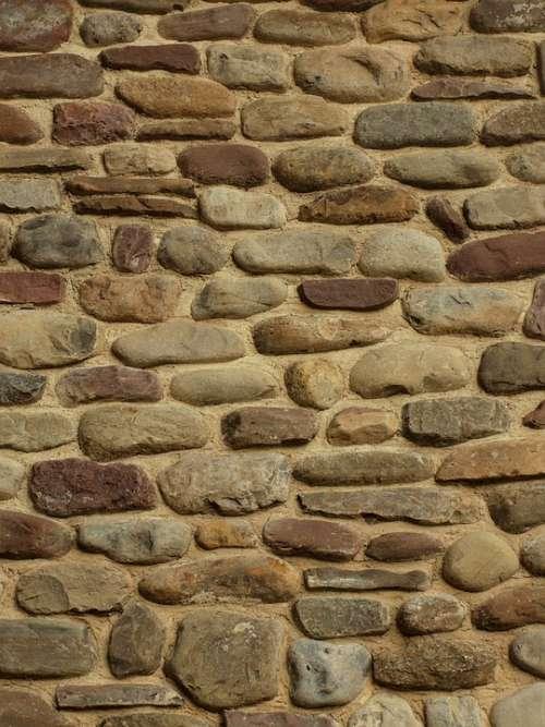 Stone Stones Cobblestone Wall Texture Multicolor