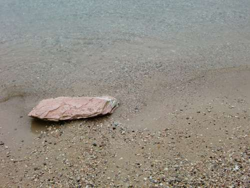 Stone Water Beach Sea