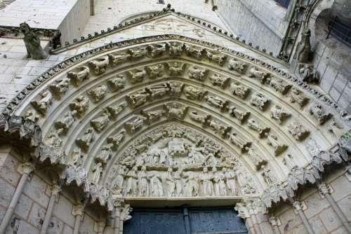 Stone Carving Doorway Arched Door Church Door