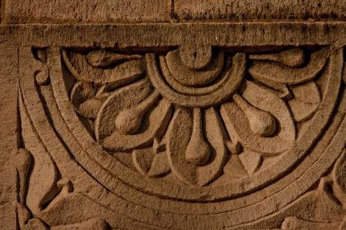 Stone Carvings Engraving Facade Indian India Asia