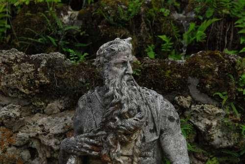 Stone Figure Garden Statue Sculpture Park Jewelry