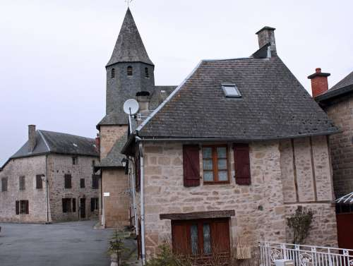 Stone Hamlet French Village Ancient Houses