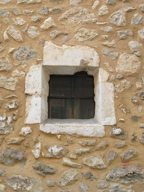 Stone House Window Facade Stone Old Wall House
