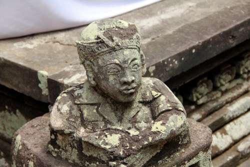 Stone Statue Indonesia Bali Temple