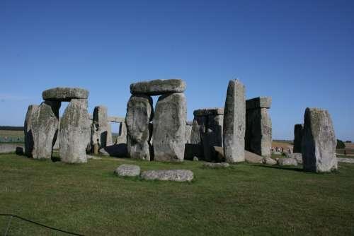 Stonehenge England Blue Sky Stone