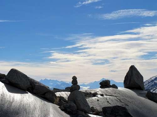 Stones Sky Cloudiness Landscape Sun Nature