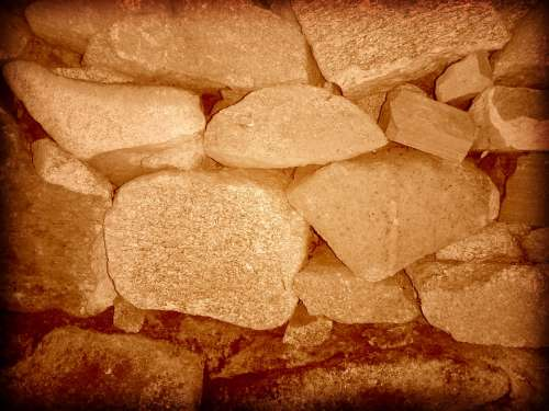 Stones Walls Sepia Wall Mural Stone Background