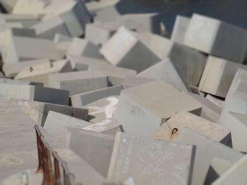 Stones Block Concrete Breakwater Sea Coast