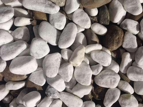 Stones White Grey Round Pebble