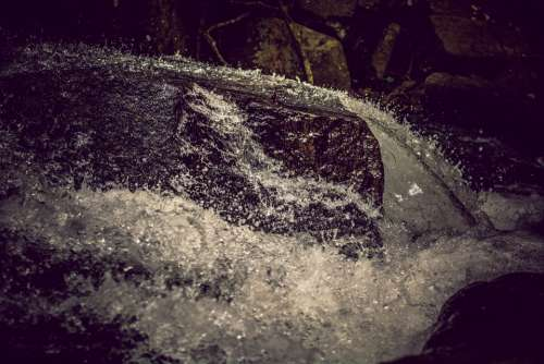 Stones Mountains Water Waterfall Rock Nature