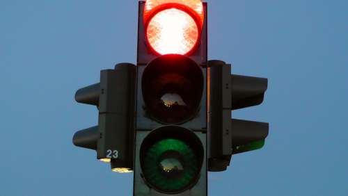 Stop Red Street Sign Road Sign Traffic Lights