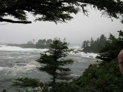 Storm Waves Tofino Vancouver Island Pacific Ocean